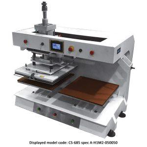 CS-685<br><b>Automatic Twin Bed Flat Press Machine</b>
