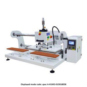 CS-738 <br><b>Pneumatic Flat Press Machine (For Sew Free Patch On Jeans Legs) </b>
